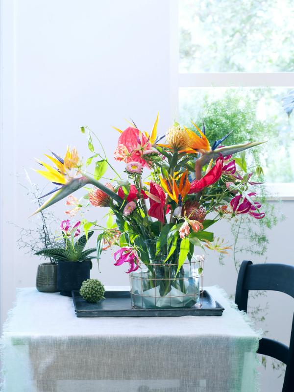 farbexplosion in der vase diese exoten lassen es krachen toll was blumen machen. Black Bedroom Furniture Sets. Home Design Ideas