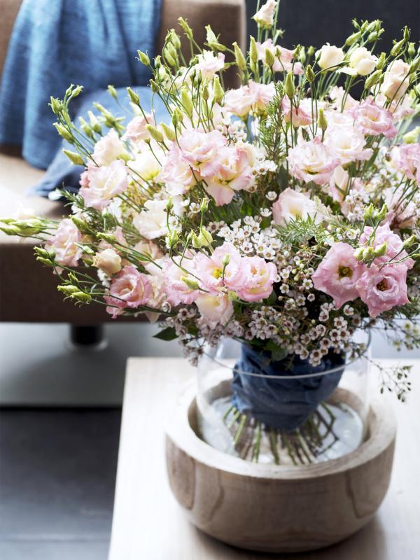 Strauß mit Lisianthus Tollwasblumenmachen.de