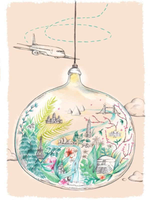 Around the botanical World: eine grüne Weltreise Tollwasblumenmachen.de