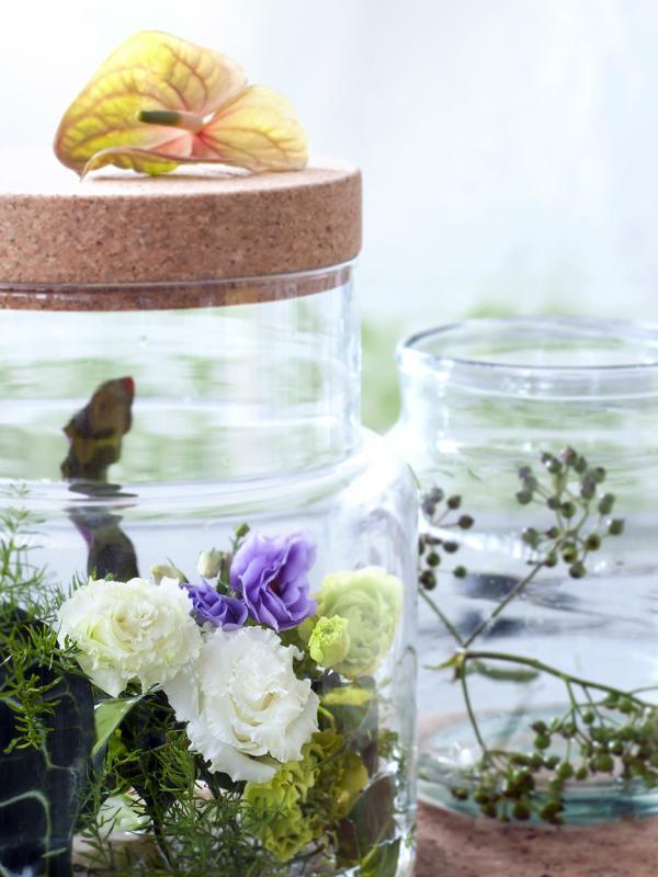 Ein Terrarium für die Lisianthus - Tollwasblumenmachen.de