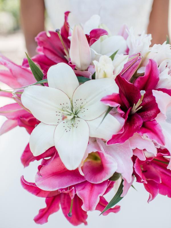 Lilie in einem Brautstrauss Tollwasblumenmachen.de